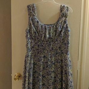 Beautiful Floral Dress | Blue Flowers | Feminine